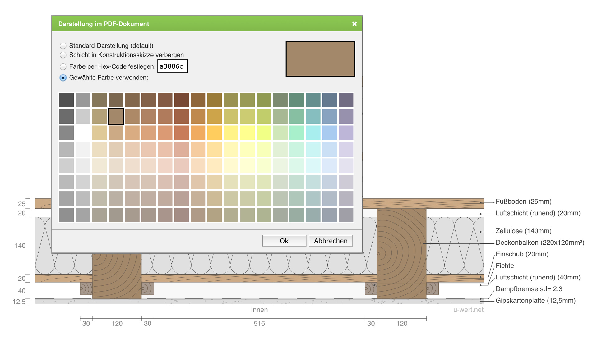 color select for layers